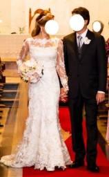 Título do anúncio: Vestido de Noiva em renda 3D