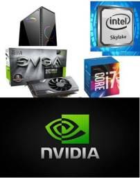 Título do anúncio: PC gamer I7-6700 / 24GB ram /GTX1060 6gb semi novo
