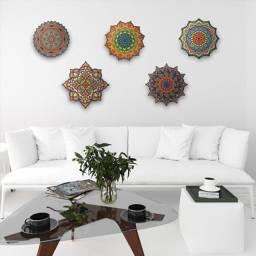Título do anúncio: Quadro mandalas decorativas de parede em mdf 30cm