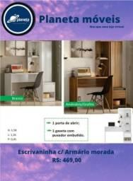 Título do anúncio: ESCRIVANINHA COM ARMÁRIO MORADA