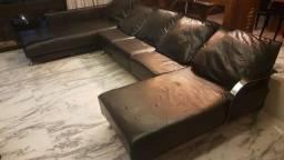 Título do anúncio: Sofá  de couro preto