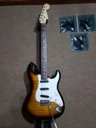 Guitarra Strato Eagle 90' (ash), headstock fender, com ups, impecável!