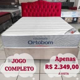 Título do anúncio: CAMA BOX ORTOBOM JOGO COMPLETO