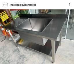 Bancada Cuba tanque Aço Inox Fabricante Ideal Inox