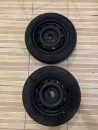 Título do anúncio: Vendo rodas de ferro aro 14 Ford  200 as 2