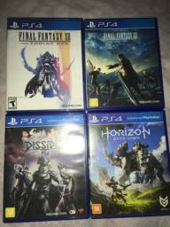 Título do anúncio: Final Fantasy XII , XV e NT (PS4) + Horizon Zero Dawn