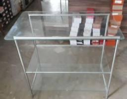 Título do anúncio: Mesa de vidro com inox