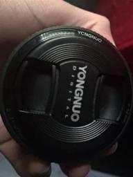 Título do anúncio: Lente 50mm F/1.8 Yongnuo Para Canon Usada