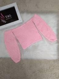 Blusa ciganinha em tricot
