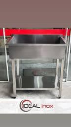Tanque Aço Inox 0.90x0.55mt Fabricante Ideal Inox