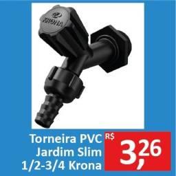 Torneira PVC Jardim Slim 1/2-3/4 - Krona - Promoção R$ 3,26