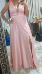 Vestido de festa longo rosê