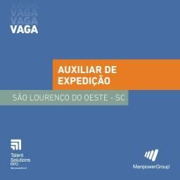 Título do anúncio: Auxiliar de Expedição