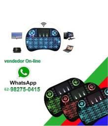 Título do anúncio:  Mini Teclado Wireless Touchpad Sem Fio com Teclado Iluminado para Televisão TV Box etc