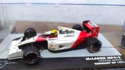Título do anúncio: Miniatura Senna Mclaren Mp4/6 1:43 1991 (com Decal Patrocínio)