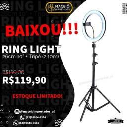 Título do anúncio: Ring Light Led  26Cm + Tripé 2,10m (Novo Lacrado)