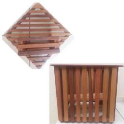 Título do anúncio: Cachepot em madeira - 2 peças