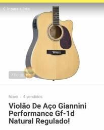 Violão eletrônico giaanini