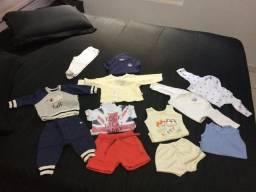 Lote roupas P bebê menino