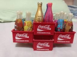 Mini Garrafinhas Coca Cola com Engradado