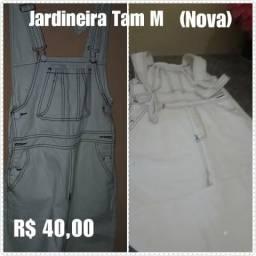 Jardineira Jeans Feminino