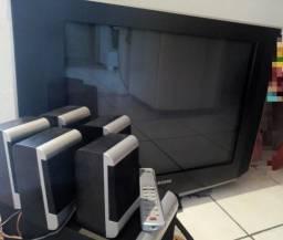 Tv Samsung 29 tela plana e home teatter