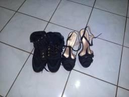 Bota Número 37 e Sandalha Número 39 ,20,00 Cada
