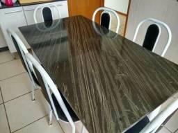 Conjunto de mesa de jantar de granito