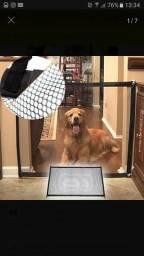 Tela de grade de porta para cachorro