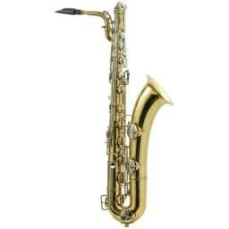 Sax Barítono Conn Laqueado Usado Sem Lá Grave Usado