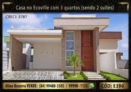 Casa no Ecoville com 3 quartos sendo 2 suítes