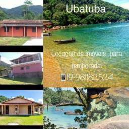 Ubatuba praia da Lagoinha , locação de imóveis mobiliados para temporada