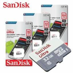 Cartão de memória Sandisk Micro SDHC Classe 10 Ultra 80Mb/s + Adaptador
