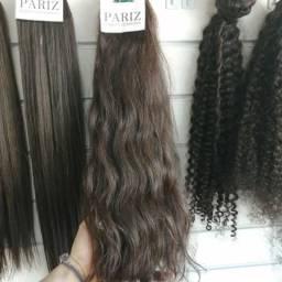 100g de cabelo liso/ondulado/cacheado 55cm na fita, pronto para aplicar.