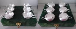 Lindas taças de banho de prata