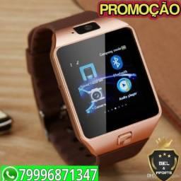6e969645239 Relógio smartwatch DZ09  touch bluetooth gear chip Atende chamadas