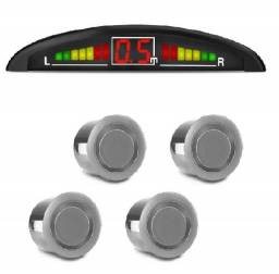 Parking Sensor De Estacionamento Ré 4 Sensores Sinal Sonoro