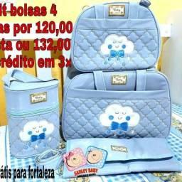 Bolsas de bebe com 4 peças por apenas 120,00 avista ou 132,00 no cartao