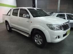 Toyota Hilux CD 2.7 16V Flex/GNV Automatico Completo Couro 2013 Branca