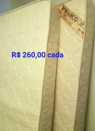Vendo 2 colchões novos de solteiro de Densidade 33 por R$ 260,00 cada
