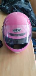 Capacete moto rosa