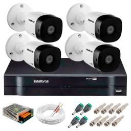 Kit 4 Câmeras intelbras VHD 1120B G5 + DVR Intelbras +<br>Instalação grátis <br>