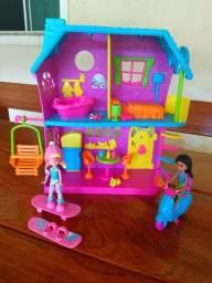 Casa Polly + 2 bonecas + acessórios- Mattel