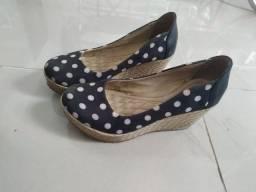 Sapato Anabela número 34