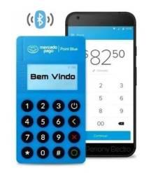 Maquininha de cartão Mercado Pago mini point blue