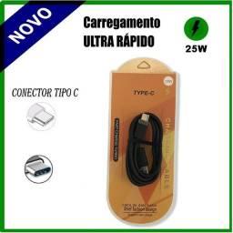 Cabo Carregador Turbo Ultra Rápido Usb Tipo C Motorola Cabo de Dados Portátil