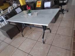 Título do anúncio: mesa grande pedra sem cadeiras nova