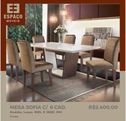 Título do anúncio: Mesa Sofia com 6 Cadeiras #Entrega e Montagem Grátis