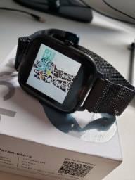Smartwatch Colmi P8 Preto Com Pulseira de Metal
