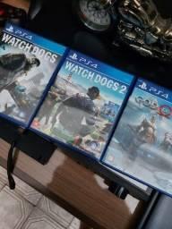 Título do anúncio: God Of War, Watch Dogs 1 e 2